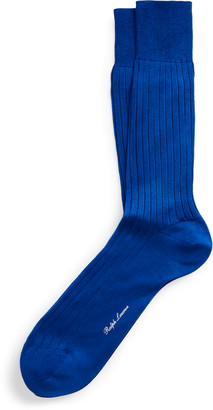Ralph Lauren Rib-Knit Cotton Socks