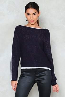 Nasty Gal You've Got What Knit Takes Metallic Sweater