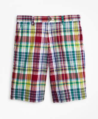 Brooks Brothers Boys Cotton Madras Seersucker Shorts