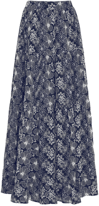 Co High Waist Embroidered Maxi Skirt $795 thestylecure.com