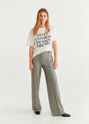 MANGO Message cotton t-shirt white - XXS - Women