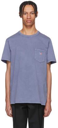 MAISON KITSUNÉ Blue Washed Bleach Pocket T-Shirt