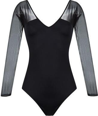 BRIGITTE v-neck tulle panel Michelle swimsuit