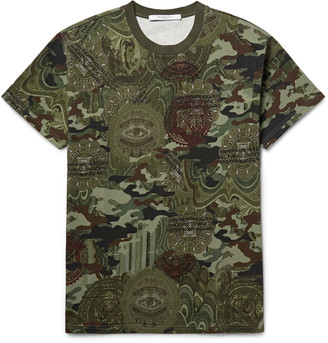Givenchy Printed Cotton-Jersey T-Shirt $835 thestylecure.com