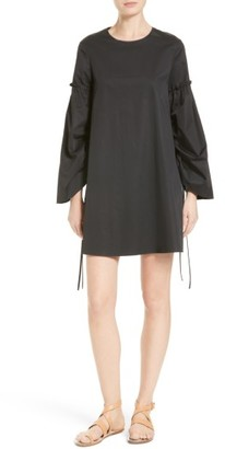 Women's Tibi Satin Poplin Trapeze Dress $425 thestylecure.com