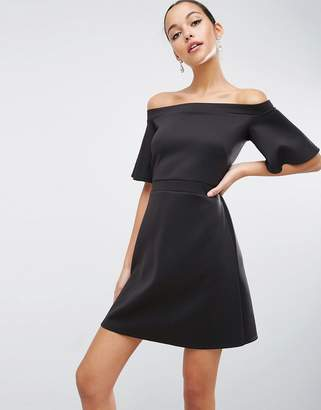 ASOS Structured Off Shoulder Mini Dress $43 thestylecure.com