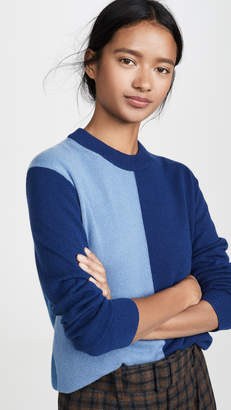 Theory Cashmere Colorblock Crew