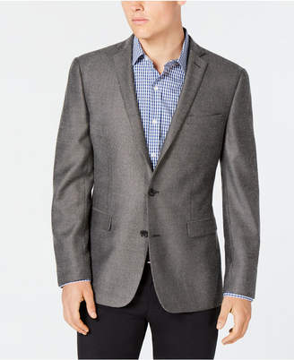 Bar III Grey/Black Print Slim-Fit Sport Coat
