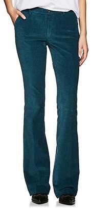 Pt01 Women's Elsa Stretch-Cotton Corduroy Flare Trousers