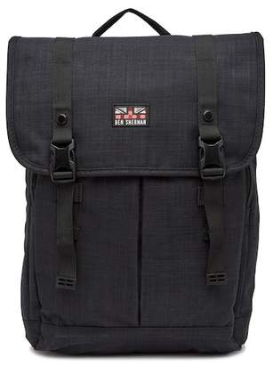 Ben Sherman Heather Flapover Double Compartment Computer Backpack