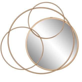 Patton Wall Decor Gold Metal Layered Circle wall accent Mirror