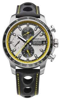 Chopard Grand Prix de Monaco Historique Chrono Titanium, Stainless Steel& Leather Strap Watch