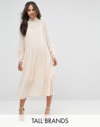 Y.A.S Tall Ruffle Detail Smock Dress $119 thestylecure.com