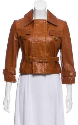 Celine Cropped Leather Jacket