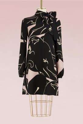 Valentino Panther Silk Dress