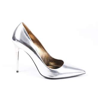 Tom Ford Silver Leather Heels