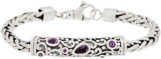 SPIGA Or Paz Sterling Silver Gemstone Accent 21.0g Bracelet