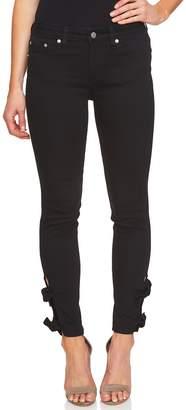 CeCe Bow Hem Skinny Jeans