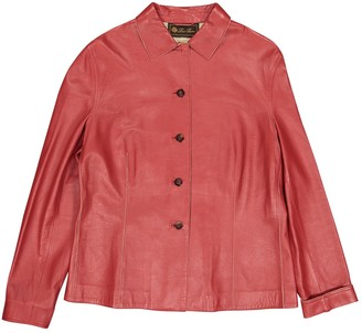 Loro Piana Red Leather Jacket for Women