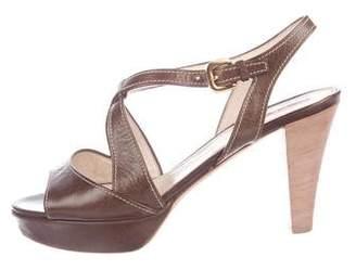 Prada Sport Wooden Platform Sandals