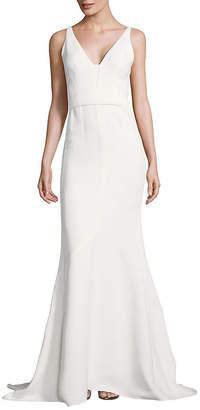 Narciso Rodriguez Open Neck Crepe Floor-Length Gown