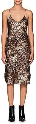 Nili Lotan Women's Leopard-Print Silk Slipdress