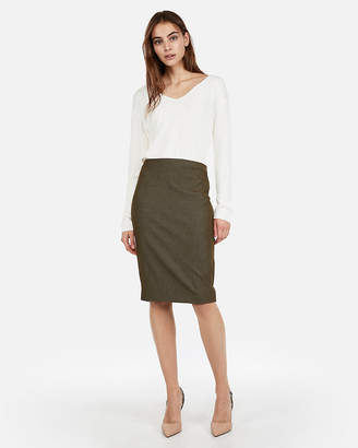 Express High Waisted Clean Pencil Skirt