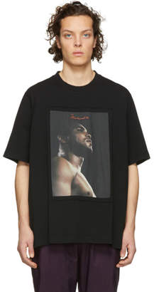 Marcelo Burlon County of Milan Black Muhammad Ali Edition Embroidered T-Shirt