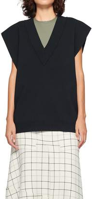 Tibi Sculpted Wool Two-Way Sweater Vest