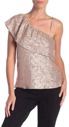 BB Dakota Sequin One Shoulder Top