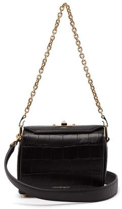 Alexander McQueen Box Bag 19 Crocodile Effect Leather Cross Body Bag - Womens - Black