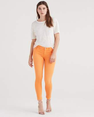 7 For All Mankind Ankle Skinny with Released Hem in Orange Sorbet