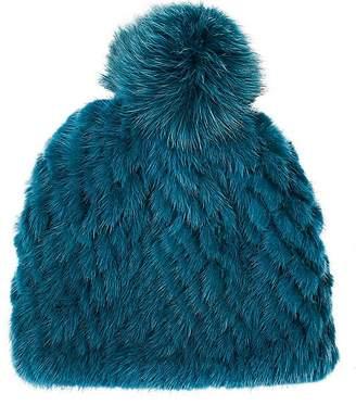 Barneys New York Women's Pom-Pom-Embellished Knitted-Fur Hat