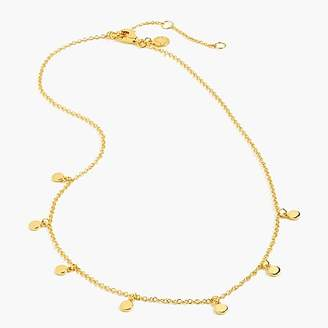 J.Crew Demi-fine 14k gold-plated dot charm necklace