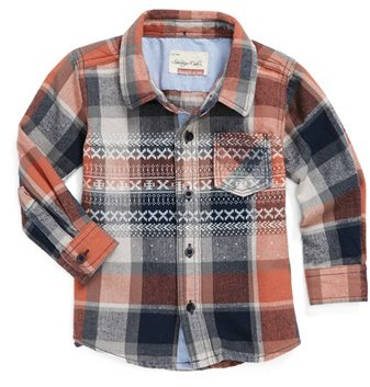 Sovereign Code 'Kenny' Woven Shirt (Baby Boys)