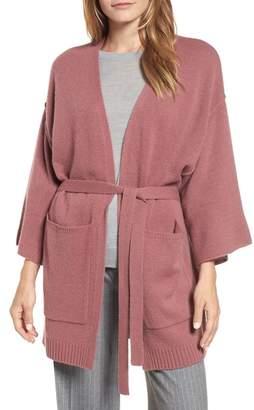 Halogen Belted Cashmere Kimono