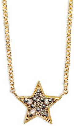 KC Designs Women's Champagne Diamond & 14K Yellow Gold Star Necklace