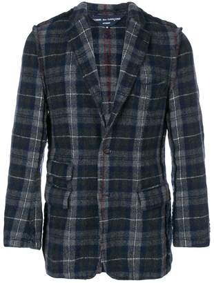 Pre-Owned tartan fitted blazer