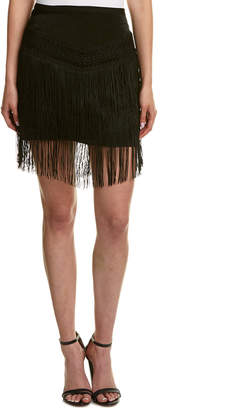 The Jetset Diaries Fringe Mini Skirt