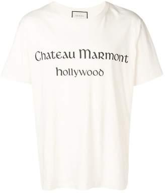 Gucci slogan print T-shirt