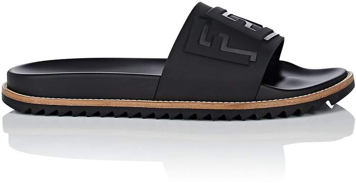 Fendi Men's Shawdow-Logo PVC Slide Sandals