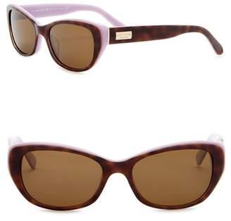 02ba59bcd0c8 Kate Spade 51mm Keara Rectangle Cat Eye Sunglasses