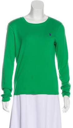 Ralph Lauren Sport Scoop Neck Long Sleeve Top