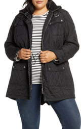Barbour Arrow Quilted Hooded Parka