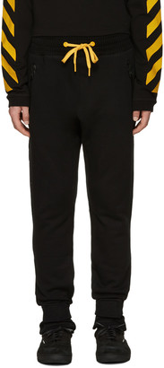 Moncler O Black Drawstring Lounge Pants $755 thestylecure.com