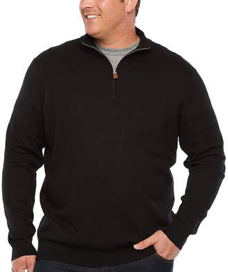 THE FOUNDRY SUPPLY CO. The Foundry Big & Tall Supply Co. V Neck Long Sleeve Pullover Sweater - Big and Tall
