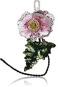 Altuzarra Women's Sequined Flower Bag Charm - Pink