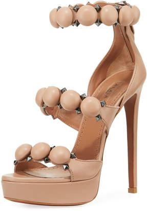 Alaia Bombe Metallic Platform Sandals