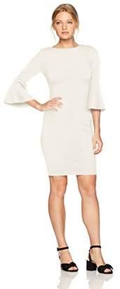 Calvin Klein Women's Petite 3/4 Peplum Sleeve Sheath Dress