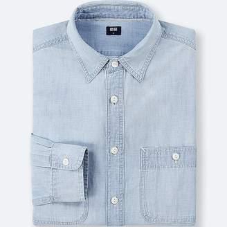 Uniqlo Men's Chambray Work Long-sleeve Shirt